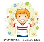 illustration of a kid boy... | Shutterstock .eps vector #1281081331