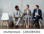 multiethnic businesspeople... | Shutterstock . vector #1281084301