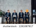 collage of cloned businessman... | Shutterstock . vector #1281087817