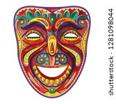 theater mask. happy carnival... | Shutterstock .eps vector #1281098044
