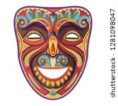 theater mask. happy carnival... | Shutterstock .eps vector #1281098047