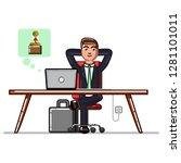 business man receives funds... | Shutterstock . vector #1281101011