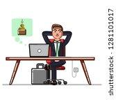 business man making money... | Shutterstock . vector #1281101017