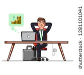 business man checking that his... | Shutterstock . vector #1281101041