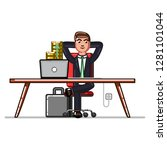 business man checking that his... | Shutterstock . vector #1281101044