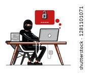 burglar try to huck into... | Shutterstock . vector #1281101071
