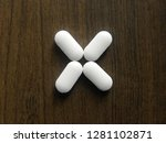 many white color medicine... | Shutterstock . vector #1281102871