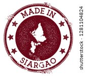 made in siargao stamp. grunge... | Shutterstock .eps vector #1281104824