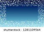 falling snow background.... | Shutterstock .eps vector #1281109564
