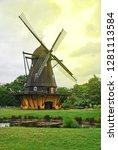 windmill in copenhagen before...   Shutterstock . vector #1281113584