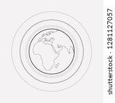 world atmosphere icon line...   Shutterstock .eps vector #1281127057