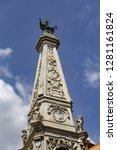 san domenico obelisk in naples... | Shutterstock . vector #1281161824