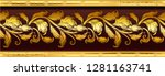 gold vintage baroque frame...   Shutterstock .eps vector #1281163741