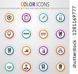 dental vector icons for user... | Shutterstock .eps vector #1281169777