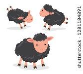 black sheep vector | Shutterstock .eps vector #1281184891