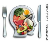 keto ketogenic diet low carb... | Shutterstock . vector #1281199381