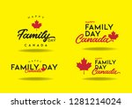 happy family day canada logo... | Shutterstock .eps vector #1281214024