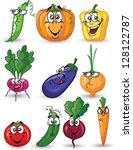 cartoon vegetables | Shutterstock .eps vector #128122787