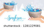 songkran festival  thailand... | Shutterstock .eps vector #1281229081
