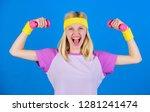 beginner fitness exercises.... | Shutterstock . vector #1281241474