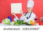 culinary school concept. female ...   Shutterstock . vector #1281244837