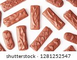 mix of chocolate bars isolated... | Shutterstock . vector #1281252547