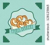 pertzel  bakery product  on... | Shutterstock .eps vector #128125865