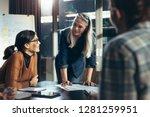 senior business woman... | Shutterstock . vector #1281259951