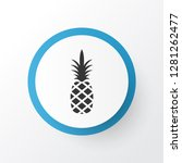 pineapple icon symbol. premium... | Shutterstock .eps vector #1281262477