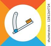 razor blade icon colored line... | Shutterstock . vector #1281264724