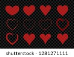 red transparent hand drawn... | Shutterstock .eps vector #1281271111