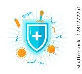 immune system concept. medical... | Shutterstock .eps vector #1281272251