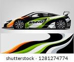 rally car wrap vector designs....   Shutterstock .eps vector #1281274774