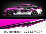 rally car wrap vector designs.... | Shutterstock .eps vector #1281274777