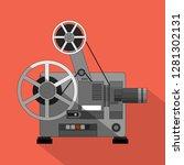 cinema projector  film... | Shutterstock .eps vector #1281302131