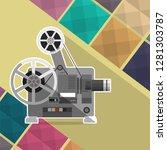cinema projector  film... | Shutterstock .eps vector #1281303787