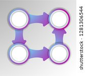 abstract 3d infographic... | Shutterstock .eps vector #1281306544