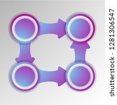 abstract 3d infographic... | Shutterstock .eps vector #1281306547