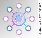 abstract 3d infographic... | Shutterstock .eps vector #1281306577