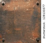 Rusty Metal Plate Texture With...