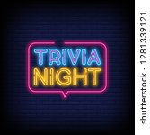 trivia night announcement neon... | Shutterstock .eps vector #1281339121