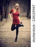 young pretty girl posing | Shutterstock . vector #128135447
