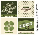 4 set of St. Patrick's day card - typography poster