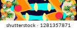tropical sun set   Shutterstock . vector #1281357871