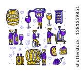 winemaker character set. man... | Shutterstock .eps vector #1281359851