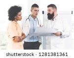 confident professional  male...   Shutterstock . vector #1281381361