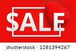 happy valentines day sale promo ... | Shutterstock . vector #1281394267