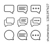 set of chat bubble line icons... | Shutterstock .eps vector #1281397627