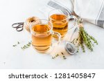 transparent glasses cup of... | Shutterstock . vector #1281405847