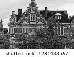 view from the exterior facade... | Shutterstock . vector #1281433567